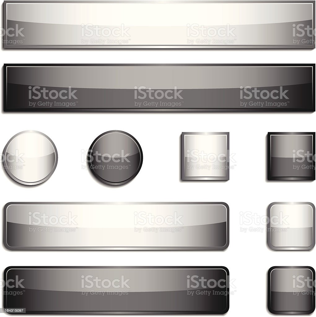 Glossy buttons royalty-free stock vector art