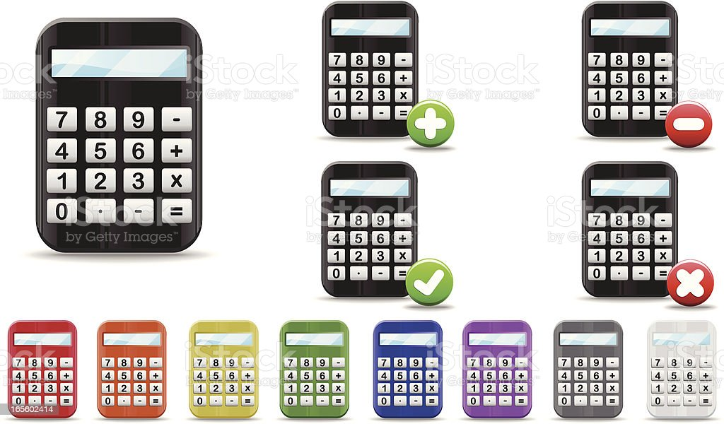 Glossy Calculator Icon royalty-free stock vector art