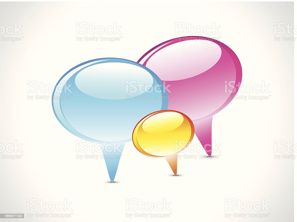 Glossy Chat Icon royalty-free stock vector art