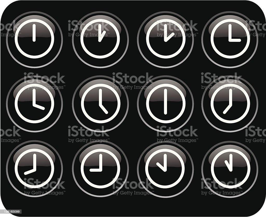 glossy clocks royalty-free stock vector art