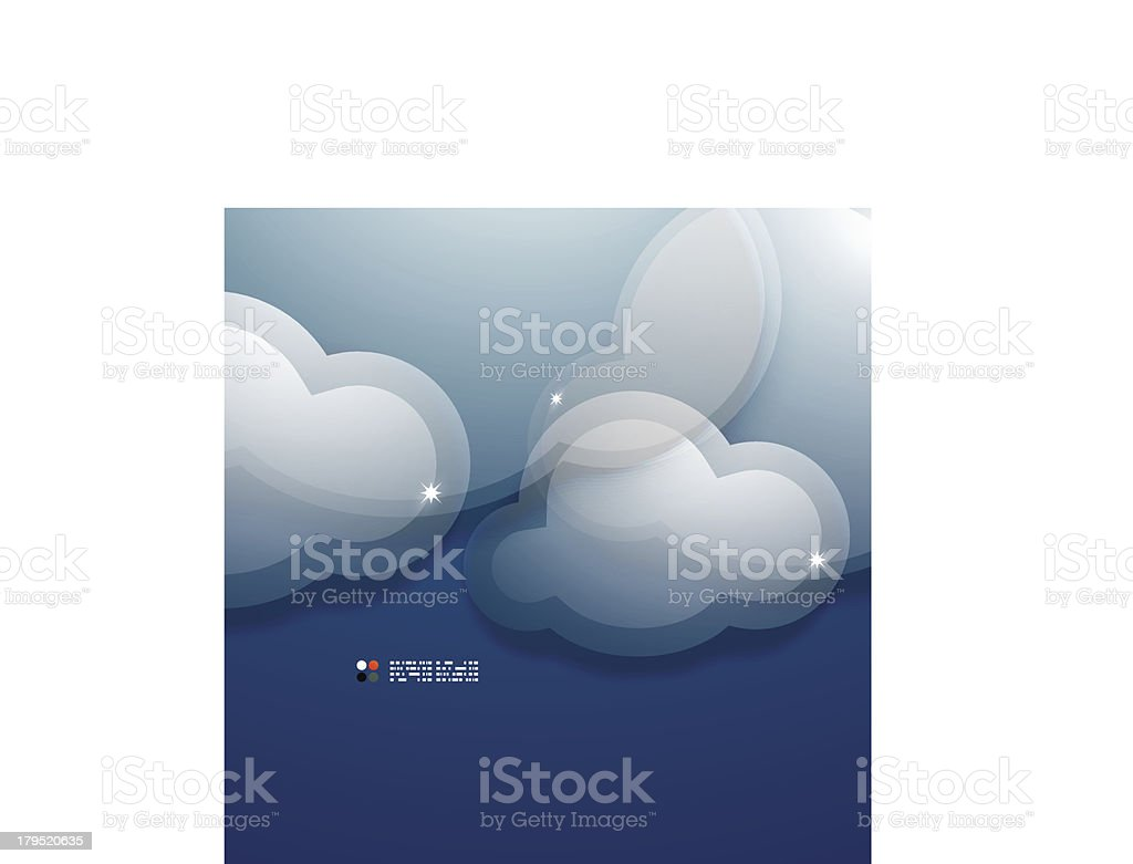 Glossy clouds vector background royalty-free stock vector art