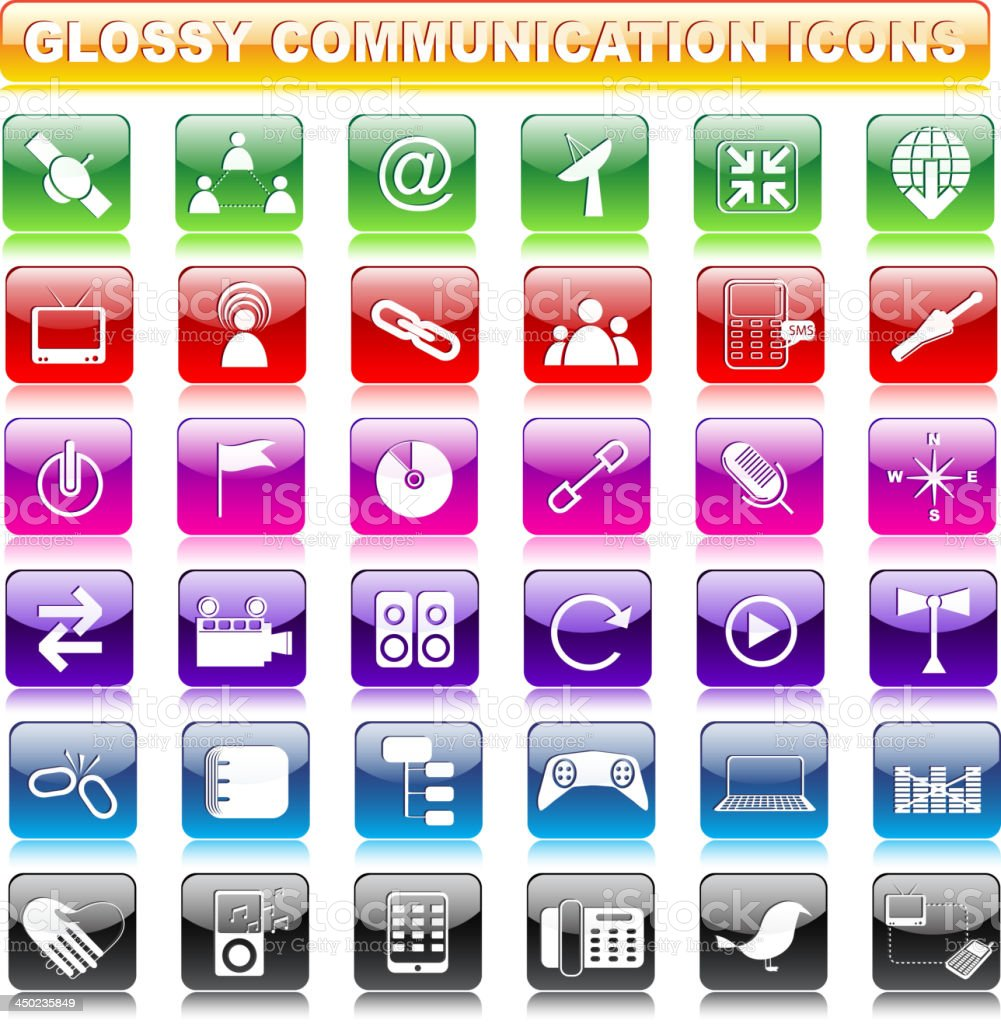 Glossy Communication Button royalty-free stock vector art