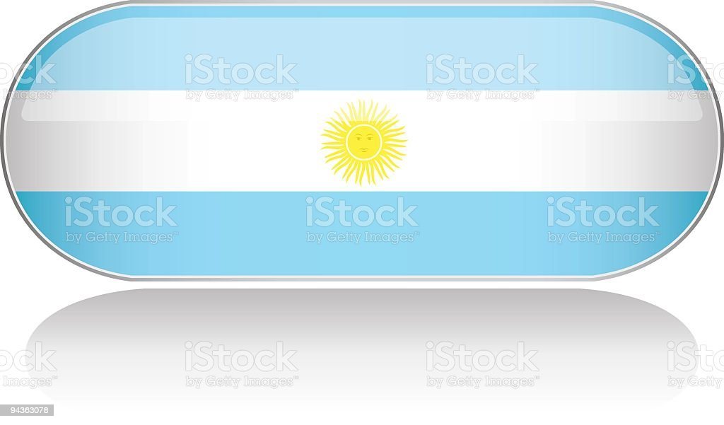 Glossy Flag Series - Argentina royalty-free stock vector art