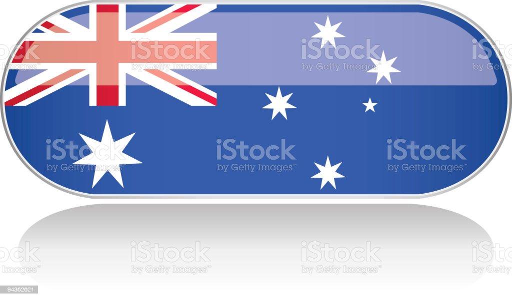 Glossy Flag Series - Australia royalty-free stock vector art
