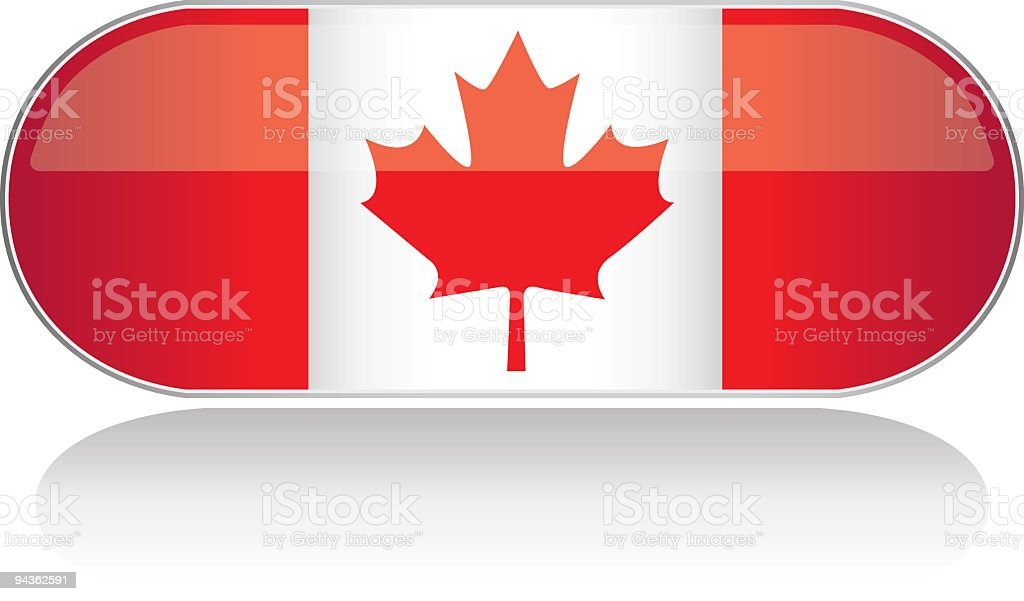 Glossy Flag Series - Canada royalty-free stock vector art