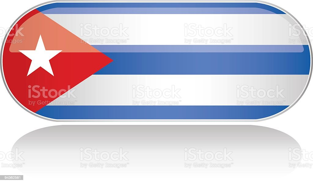 Glossy Flag Series - Cuba royalty-free stock vector art