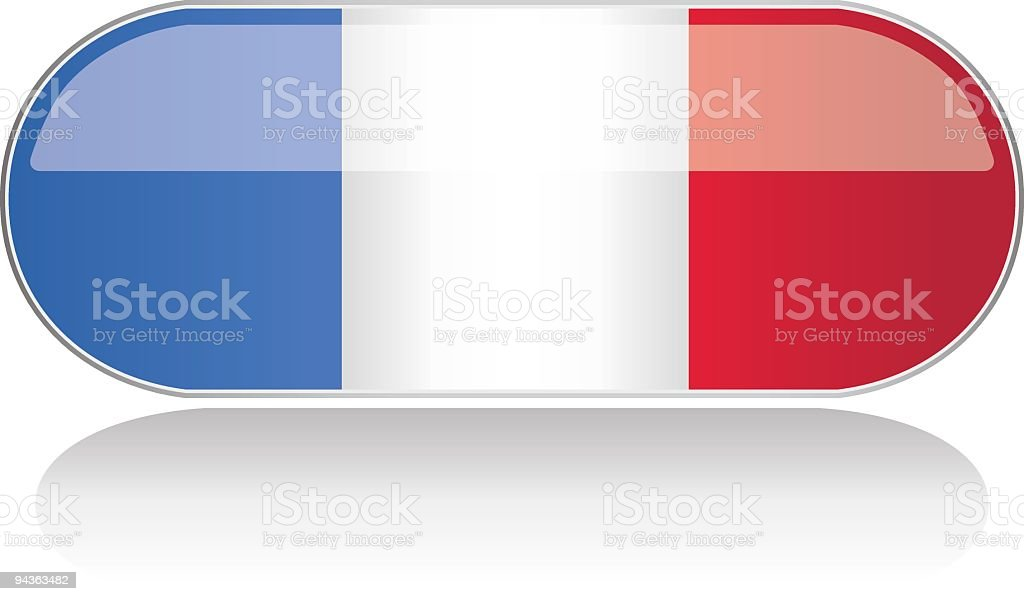 Glossy Flag Series - France royalty-free stock vector art