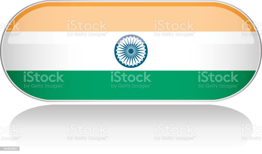 Glossy Flag Series - India royalty-free stock vector art