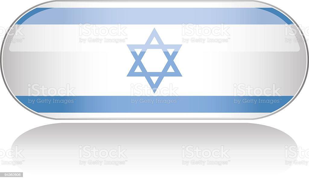Glossy Flag Series - Israel royalty-free stock vector art