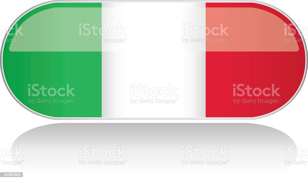 Glossy Flag Series - Italy royalty-free stock vector art