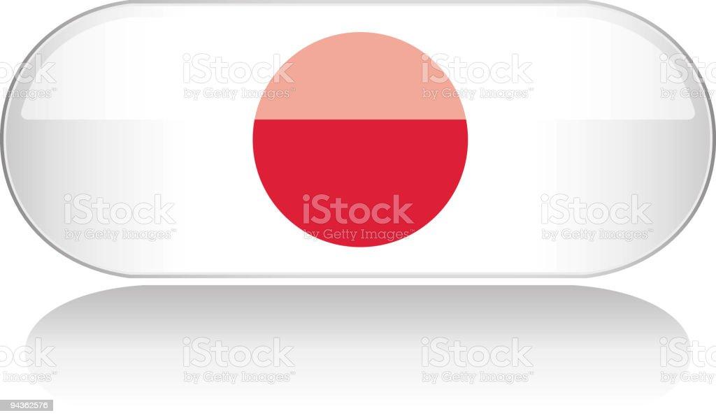 Glossy Flag Series - Japan royalty-free stock vector art