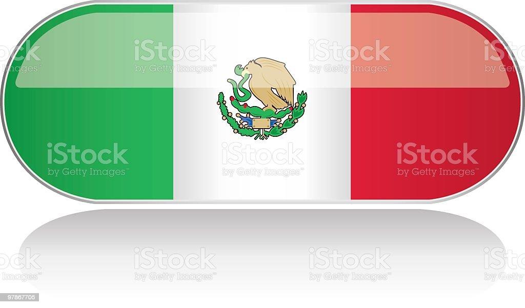 Glossy Flag Series - Mexico royalty-free stock vector art
