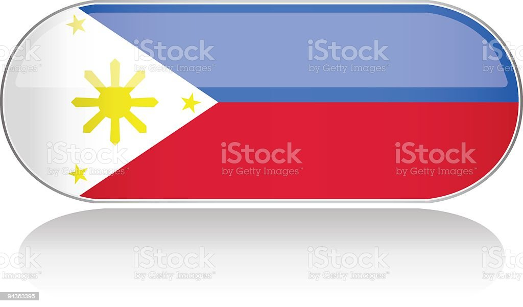 Glossy Flag Series - Philippines royalty-free stock vector art