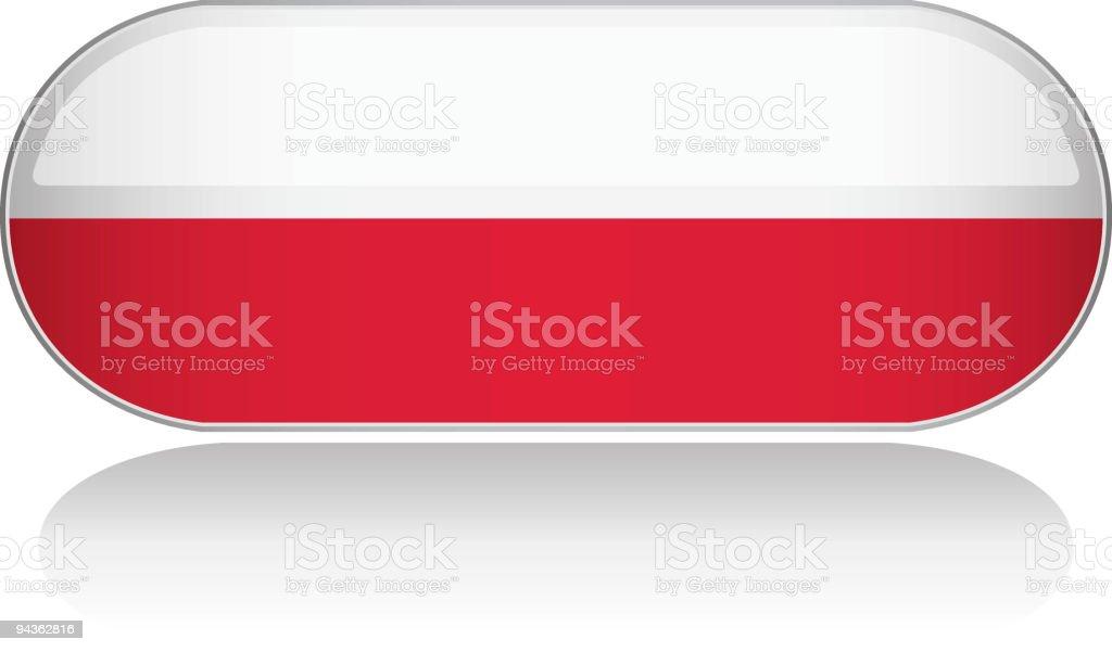 Glossy Flag Series - Poland royalty-free stock vector art