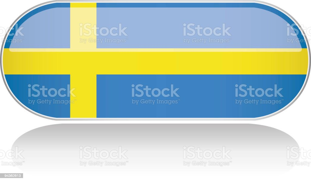 Glossy Flag Series - Sweden royalty-free stock vector art