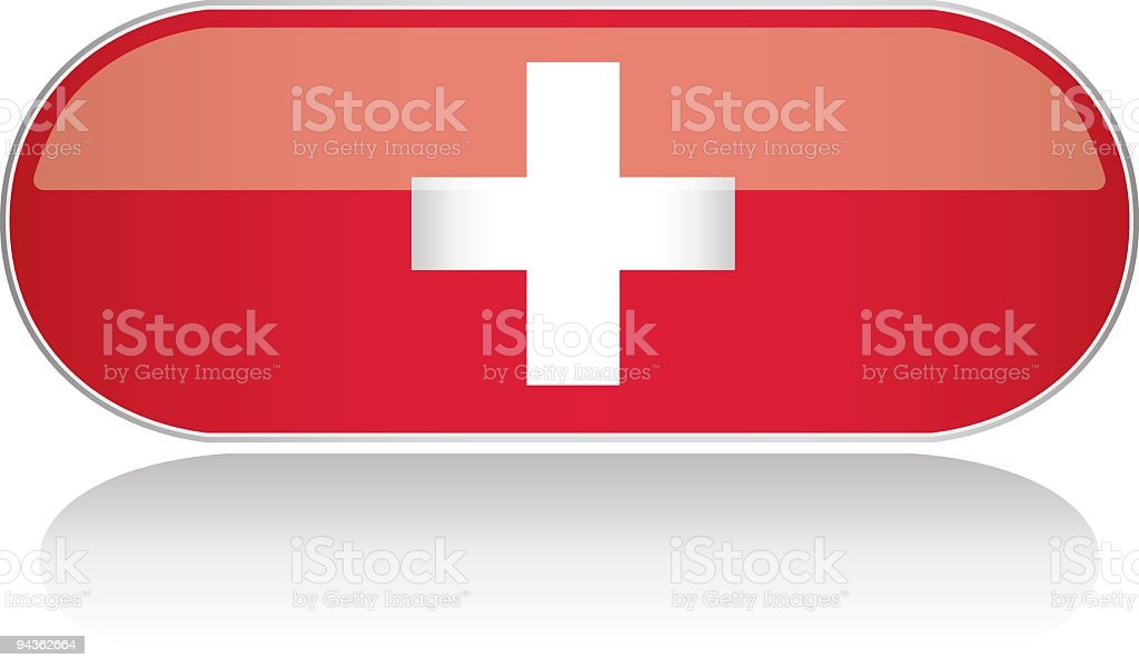Glossy Flag Series - Switzerland royalty-free stock vector art