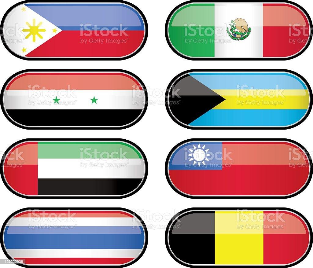 Glossy Flag Series royalty-free stock vector art
