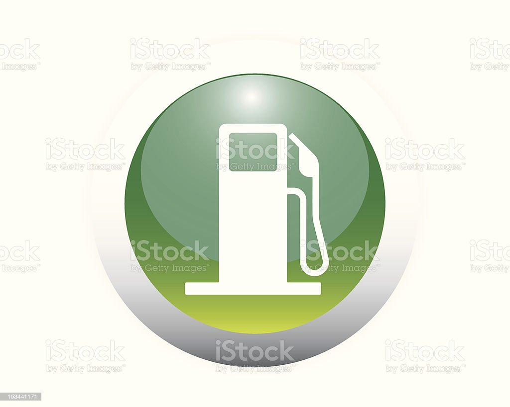 Glossy Fuel Pump Sign Icon royalty-free stock vector art
