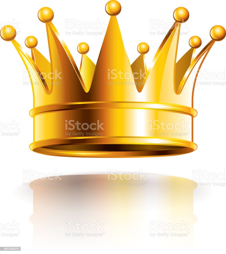 Glossy golden crown vector illustration vector art illustration