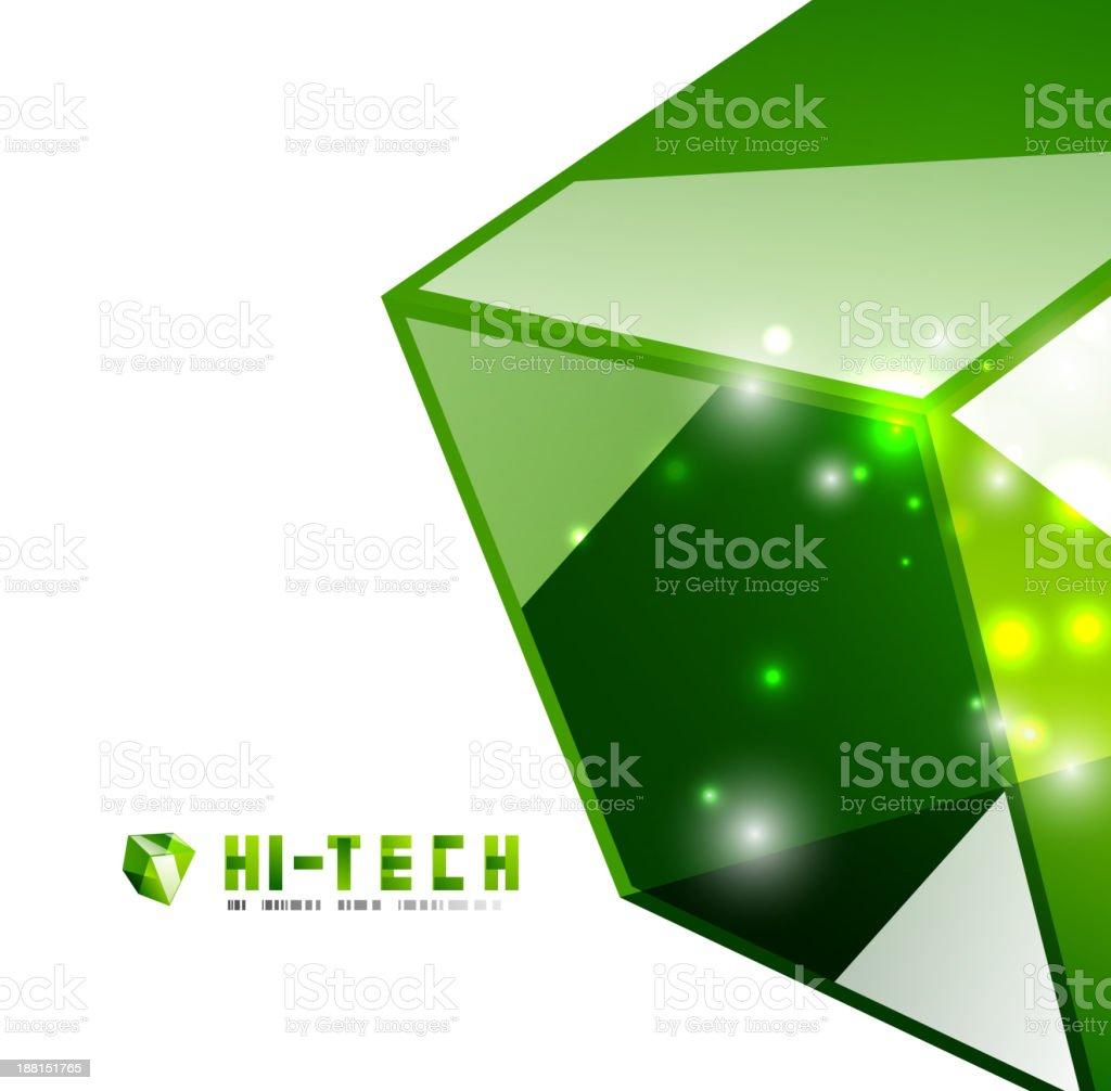 Glossy green hi-tech background royalty-free stock vector art