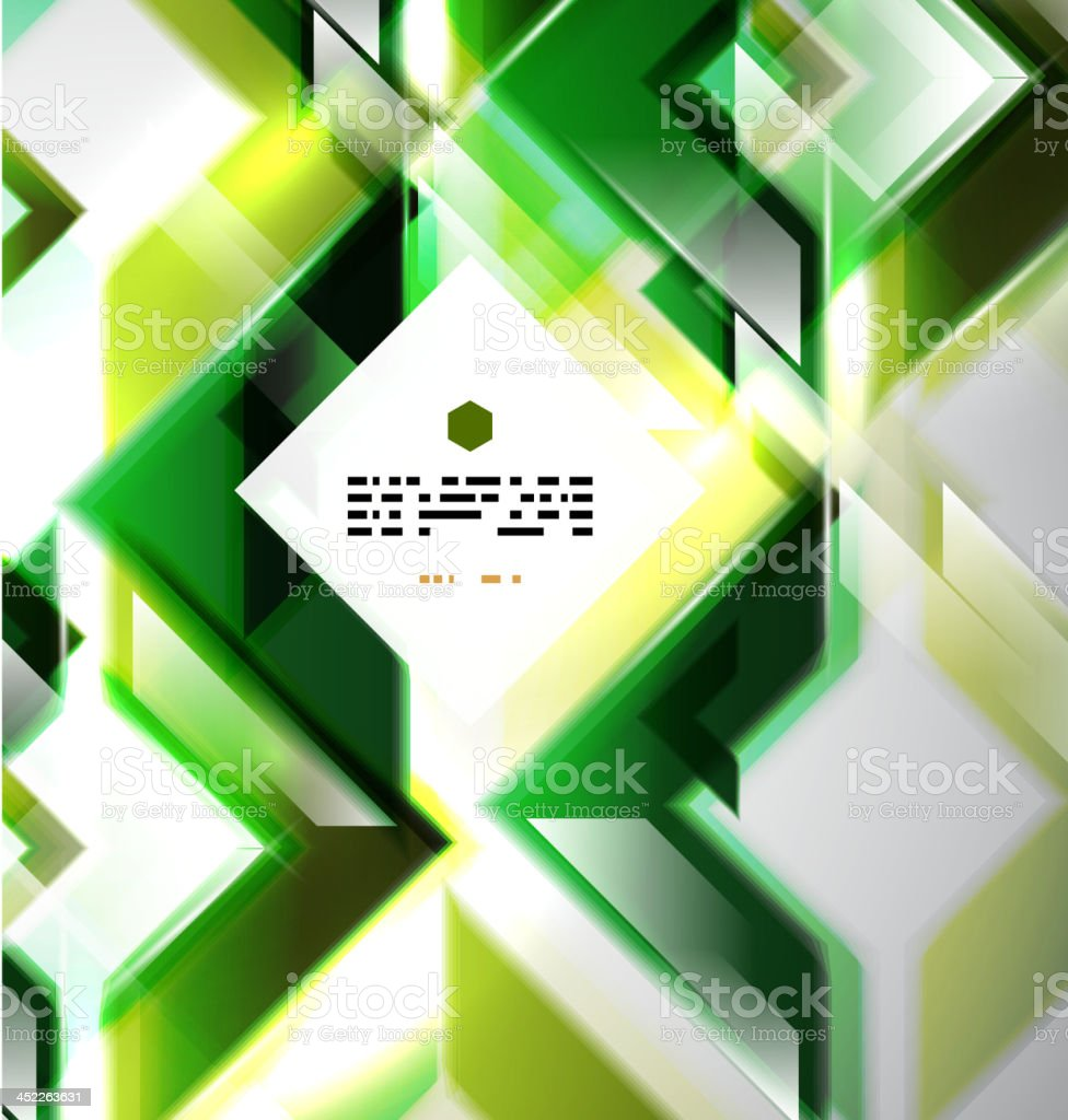 Glossy green squares background royalty-free stock vector art