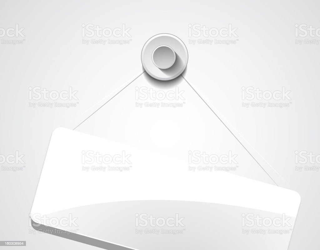 Glossy hanging plate royalty-free stock vector art