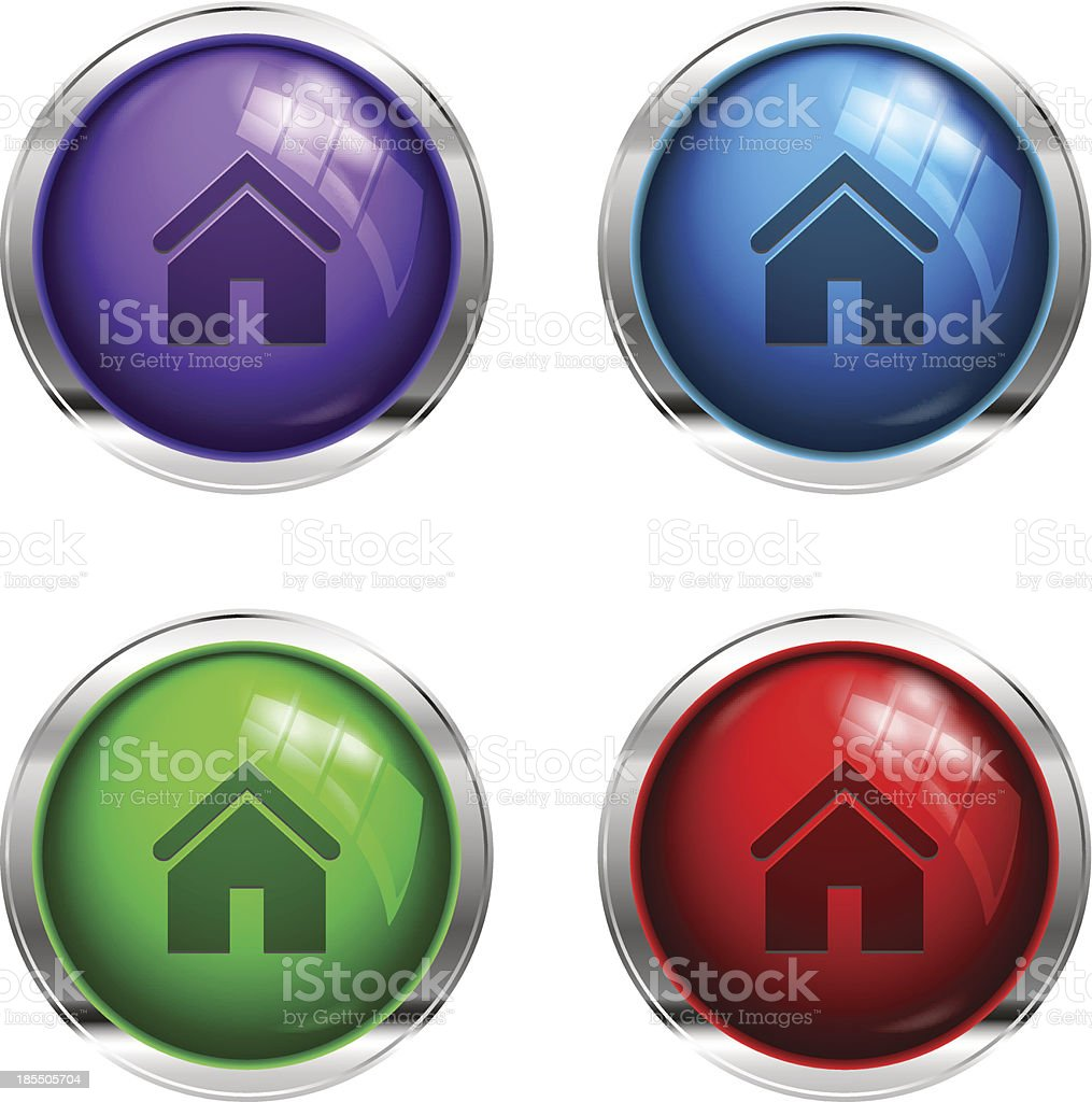 Glossy home buttons royalty-free stock vector art