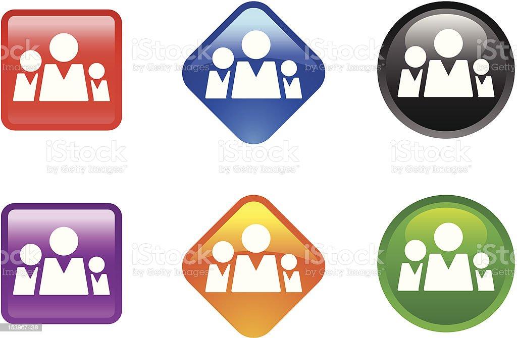 Glossy Icon Series | Community royalty-free stock vector art