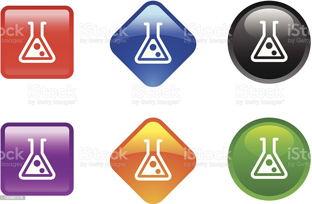 Glossy Icon Series | Laboratory Bottle royalty-free stock vector art