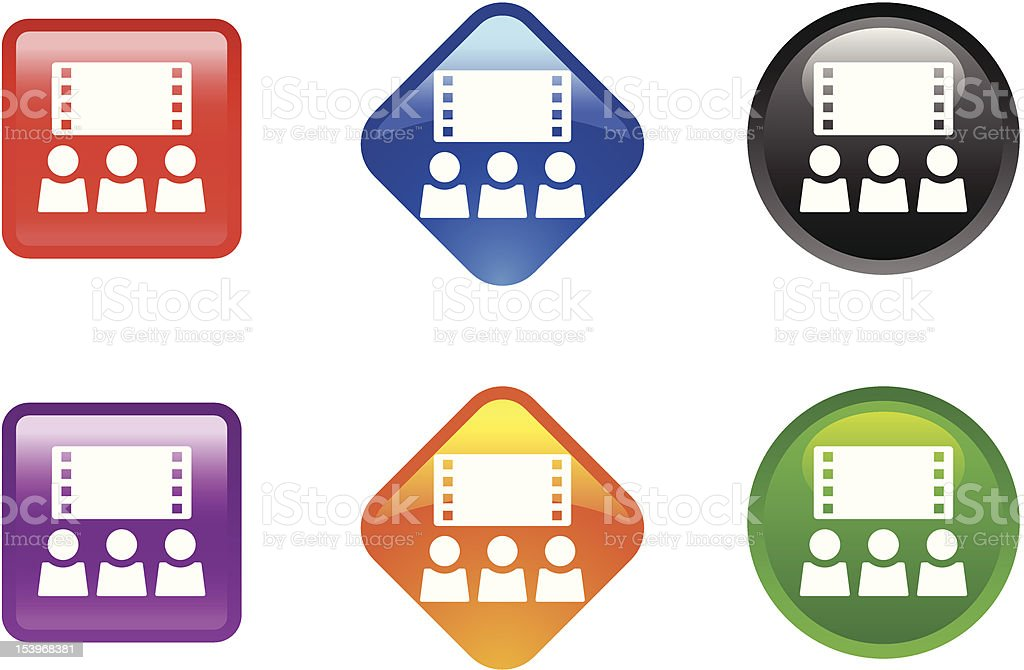 GLossy Icon Series | Movie / Theater royalty-free stock vector art