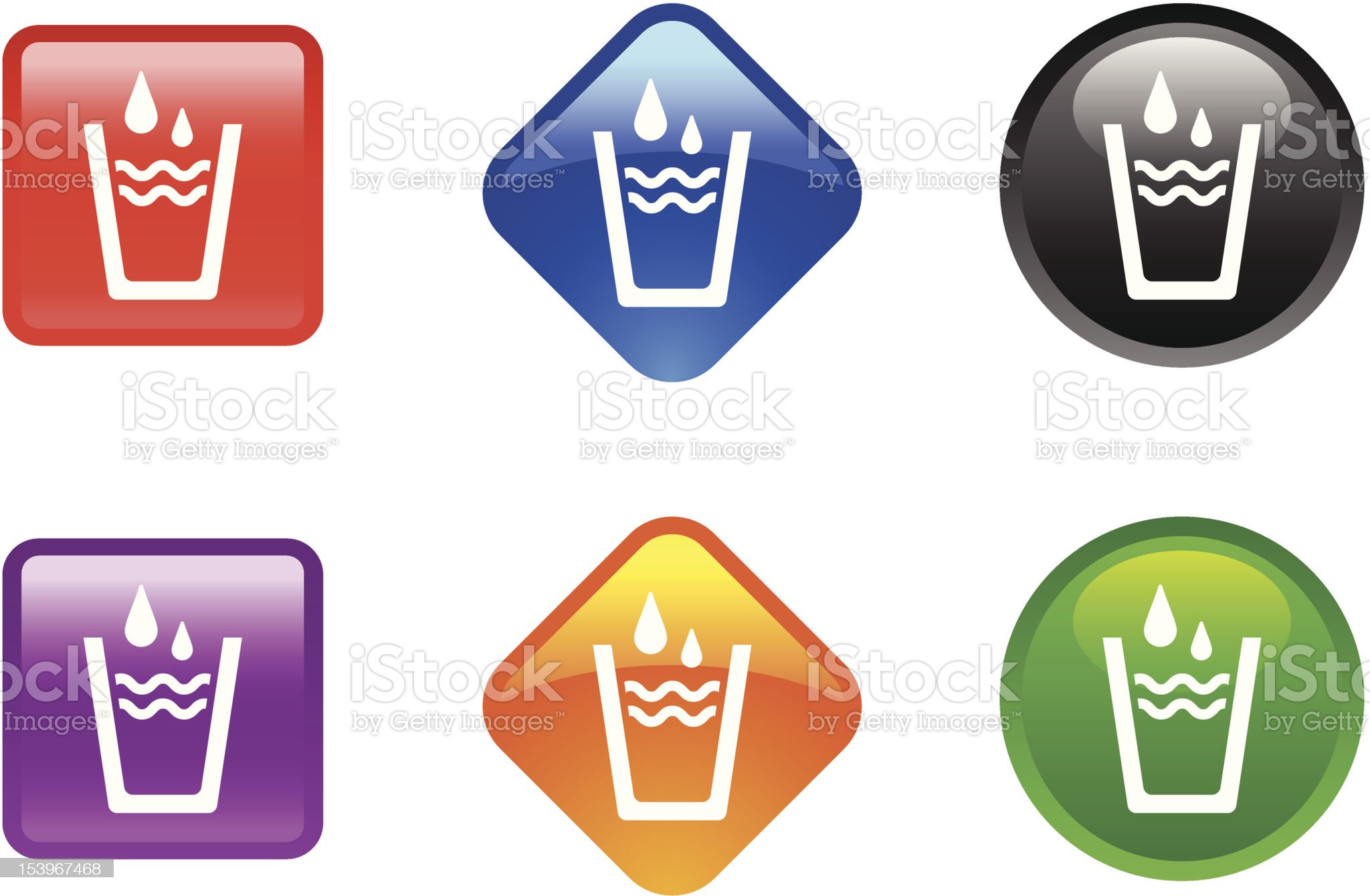 Glossy Icon Series | Water royalty-free stock vector art