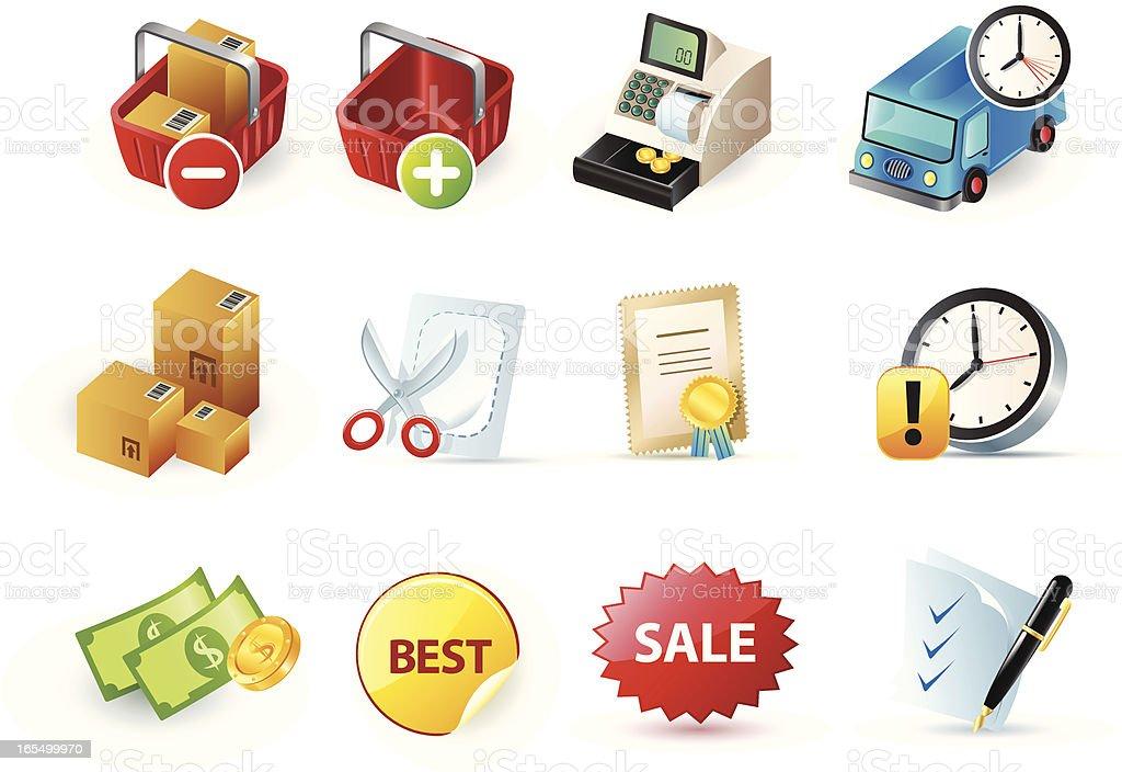 glossy icons 8 royalty-free stock vector art