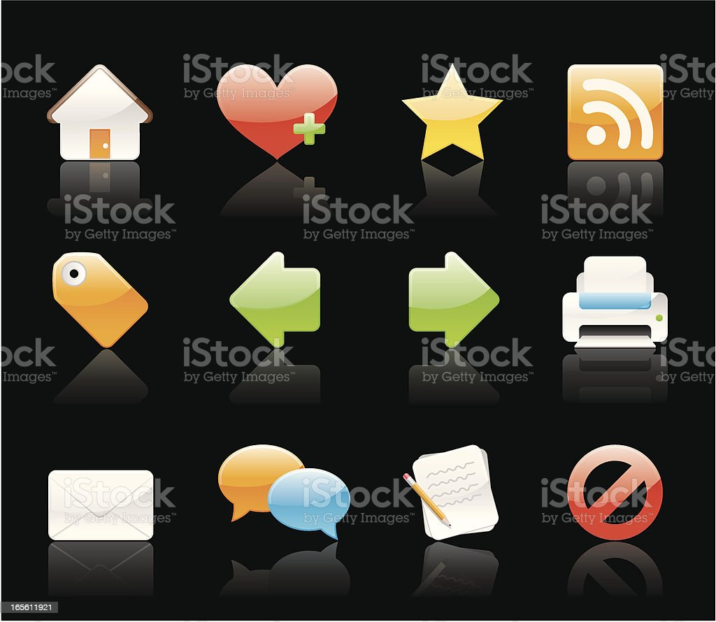 Glossy Icons - Internet vector art illustration