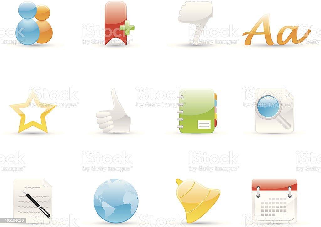 Glossy Icons - Social Network royalty-free stock vector art