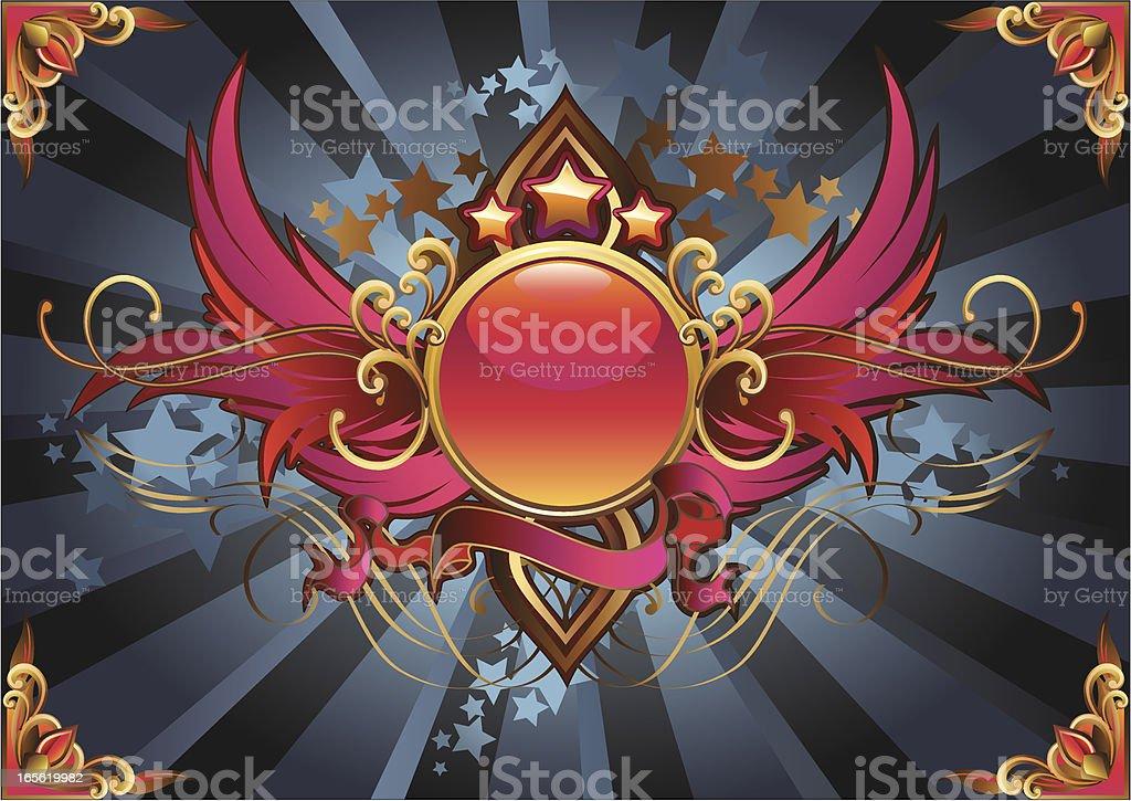 Glossy Insignia royalty-free stock vector art