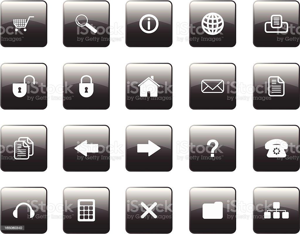 Glossy Internet Icons royalty-free stock vector art