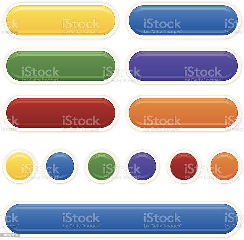 Glossy Labels royalty-free stock vector art