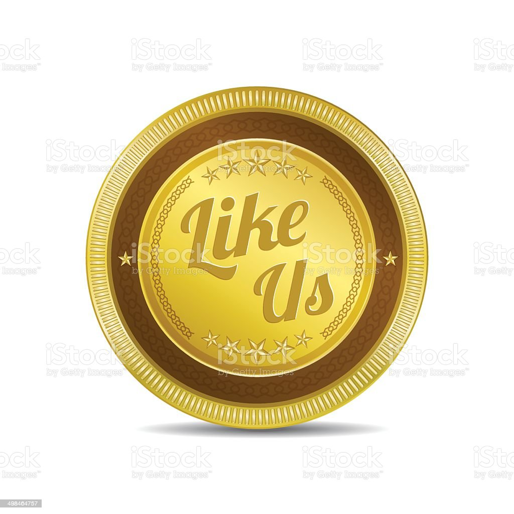 Glossy Like Us Vector Icon Button royalty-free stock vector art
