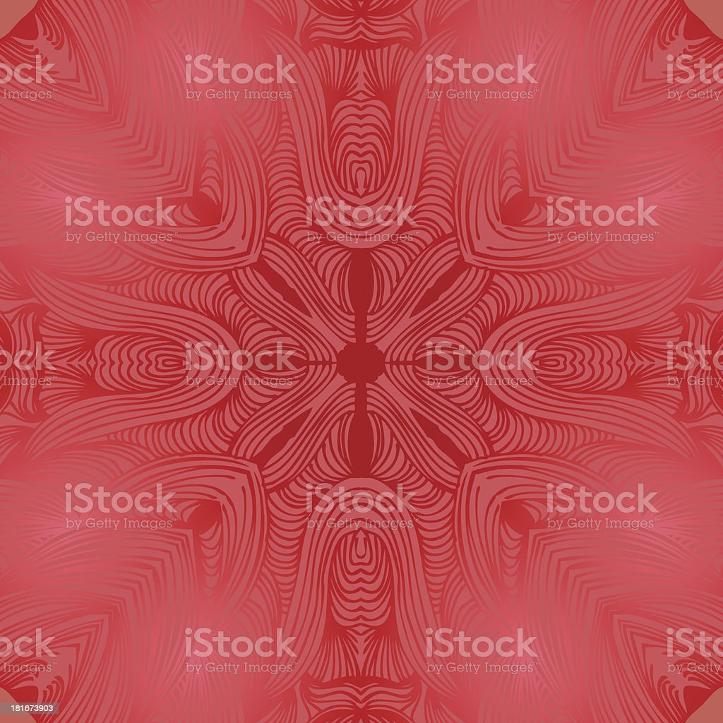 Glossy maroon ornamental round lace pattern royalty-free stock vector art
