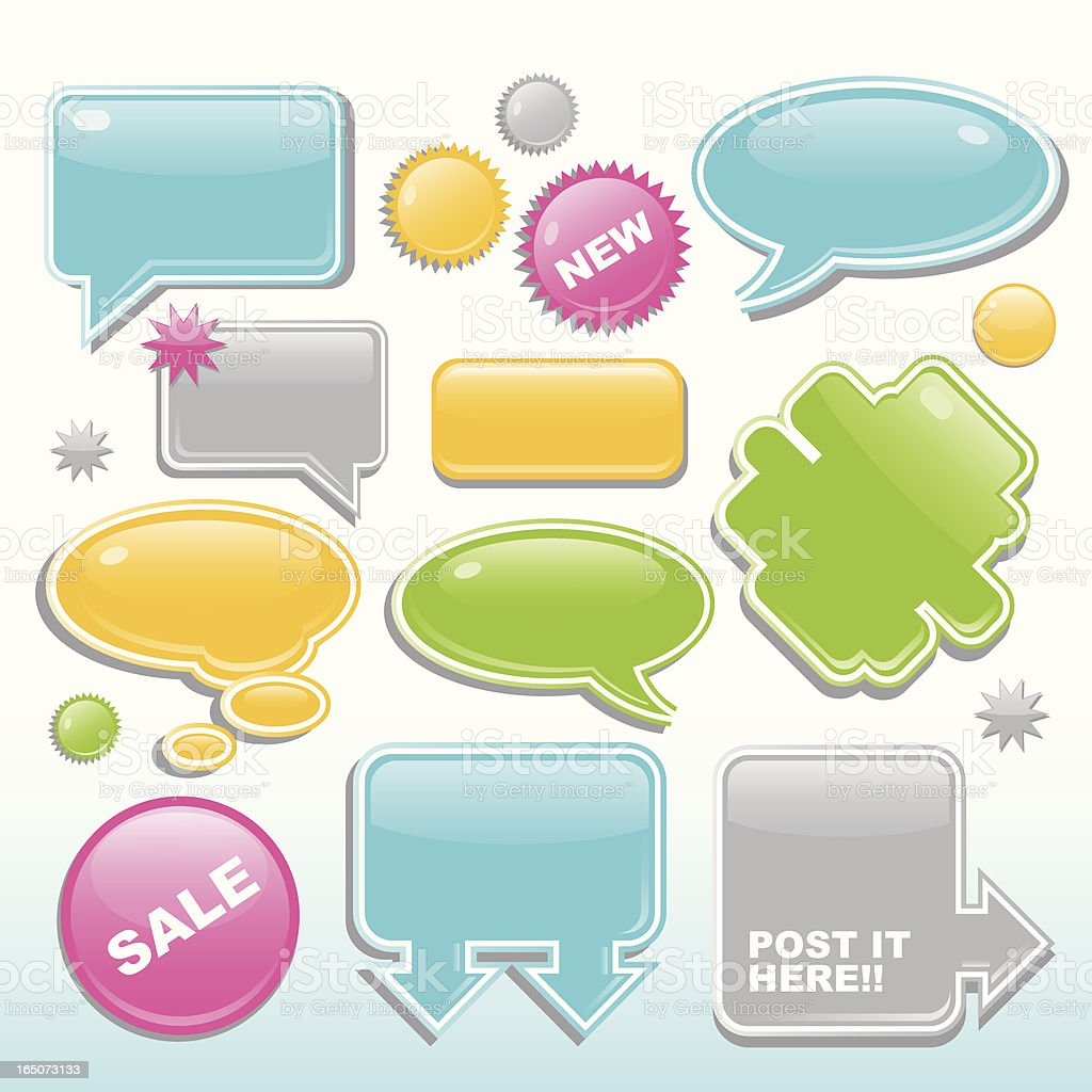 Glossy Message Bubbles royalty-free stock vector art