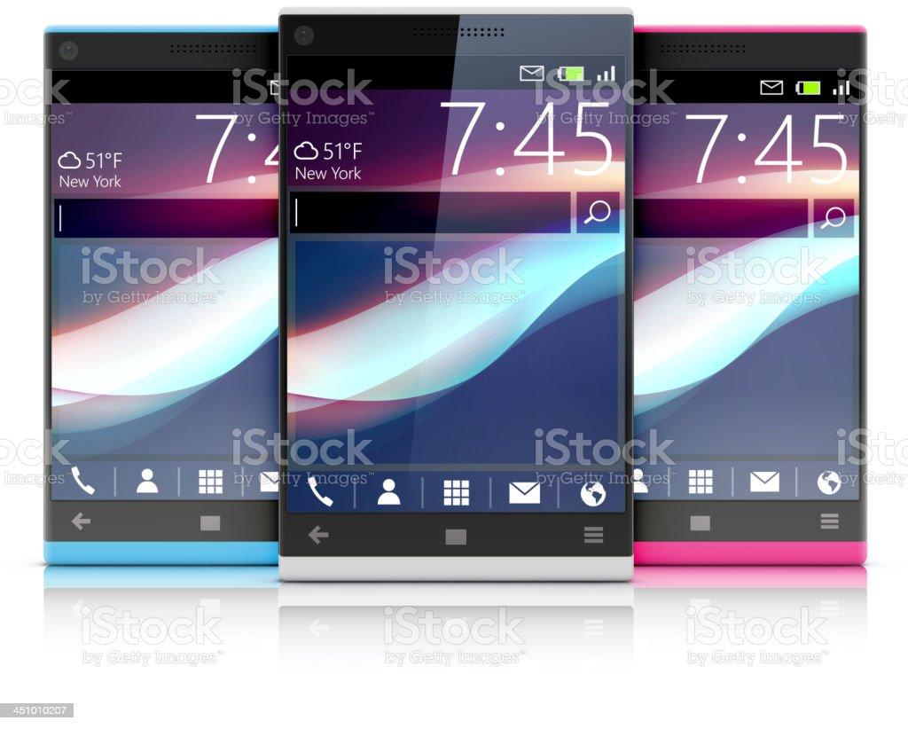 glossy modern cellphones royalty-free stock vector art
