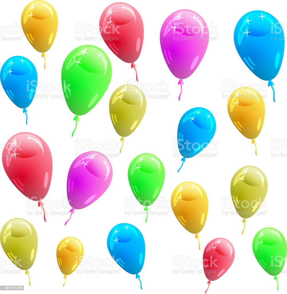 glossy multicolored balloons royalty-free stock vector art