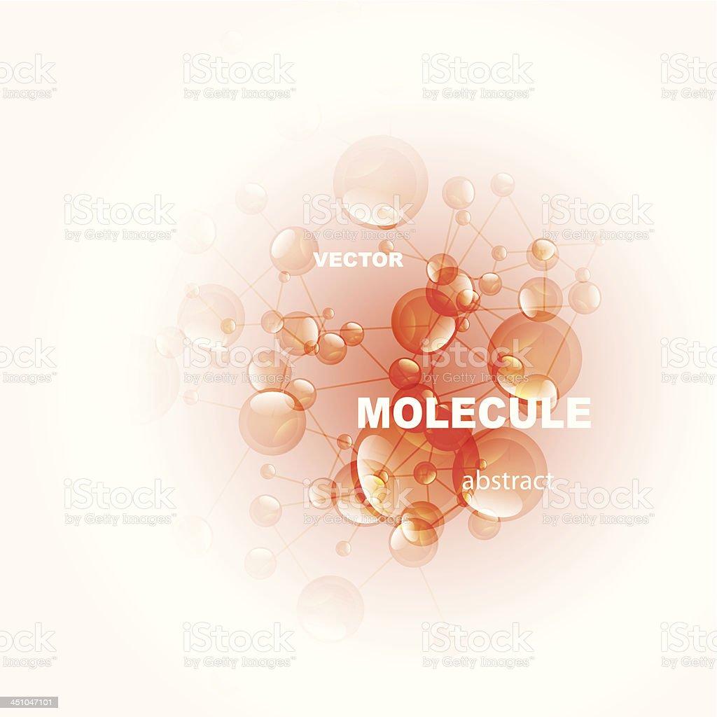 Glossy orange molecules background royalty-free stock vector art