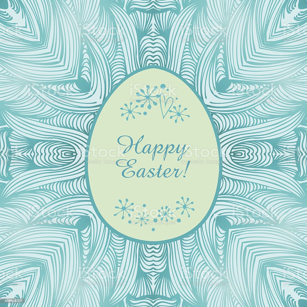 Glossy ornamental lace banner, easter backgroun royalty-free stock vector art