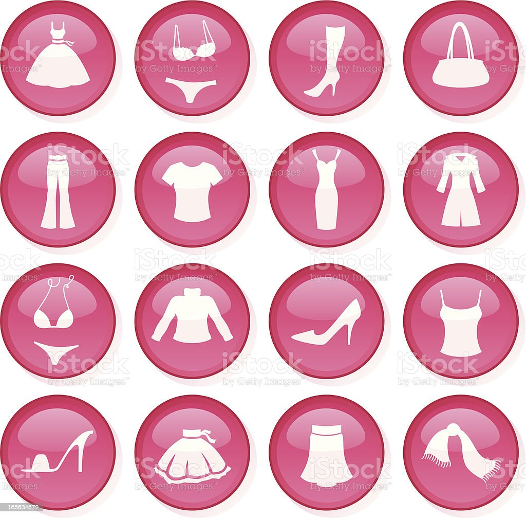 Glossy Pink Fashion royalty-free stock vector art