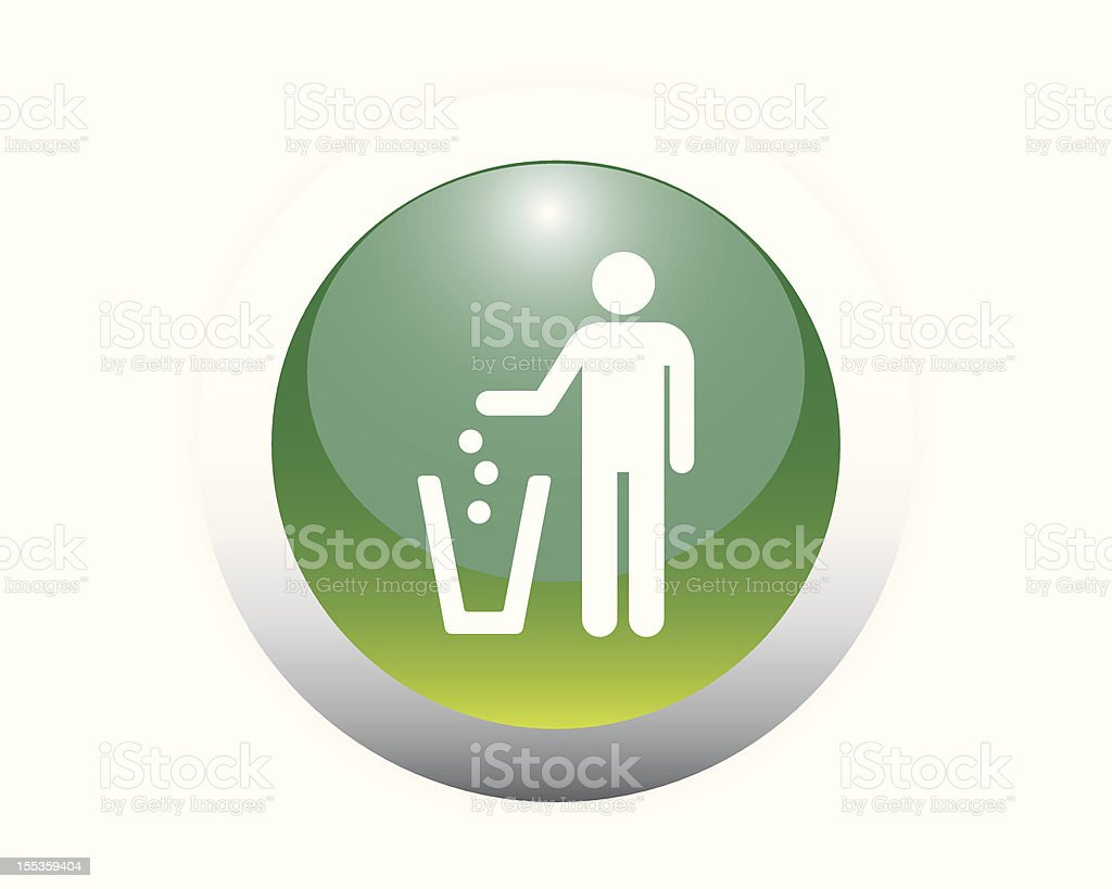 Glossy Recycling Icon royalty-free stock vector art