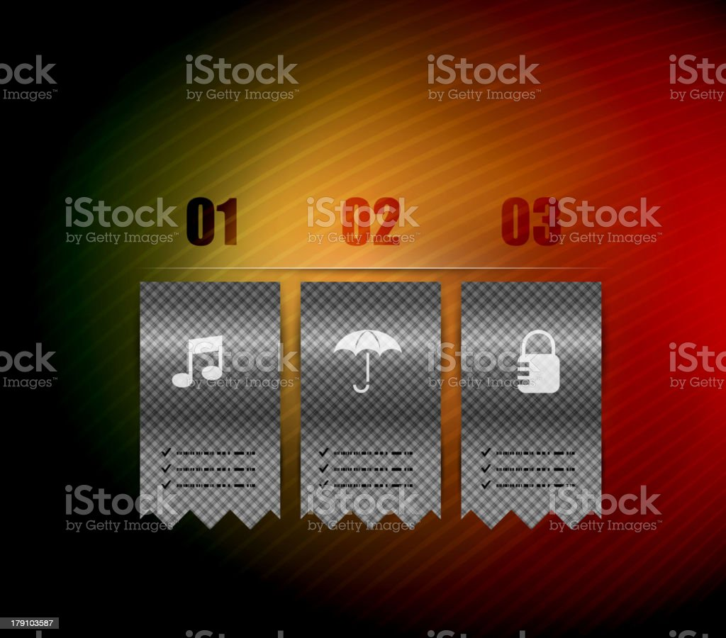 Glossy ribbons infographic design royalty-free stock vector art
