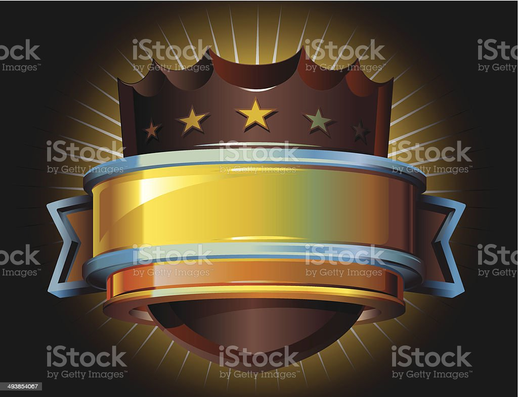Glossy Shield and banner royalty-free stock vector art