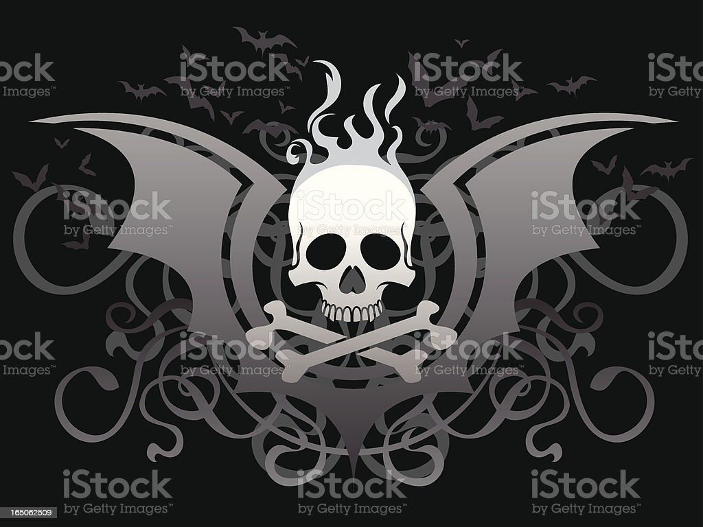 Glossy Skull Decoration royalty-free stock vector art