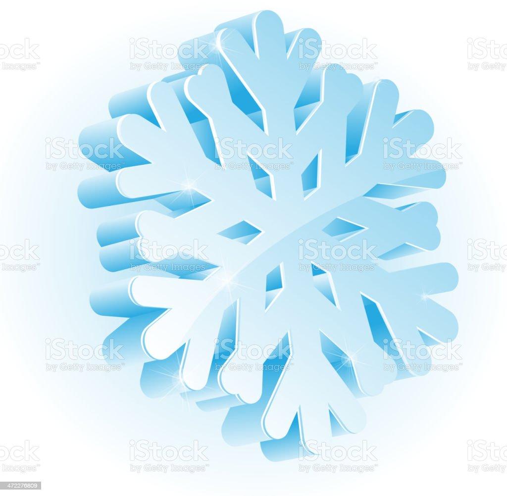 glossy snowflake royalty-free stock vector art